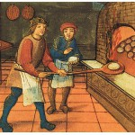 A Medieval Baker at work