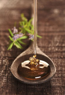 Honey used as a sweetener