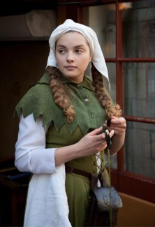 Medieval milk maid costume