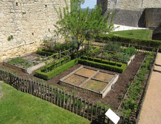 Medieval garden at Castelnaud La Chappelle, France
