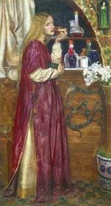 The Queen in her Parlour Eating Bread and Honey by British painter Valentine Cameron Prinsep