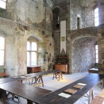 Banquet hall at St Mesmin Castle France