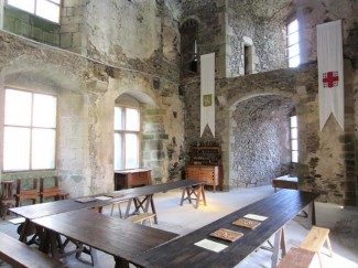 Great Hall at St Mesmin Castle France