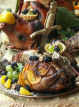 Medieval banquet food