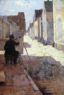Main street of Grez by John Lavery