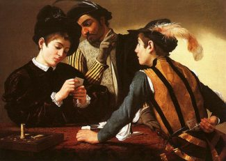 The Cardsharps by Caravaggio - post-medieval Italian gambling