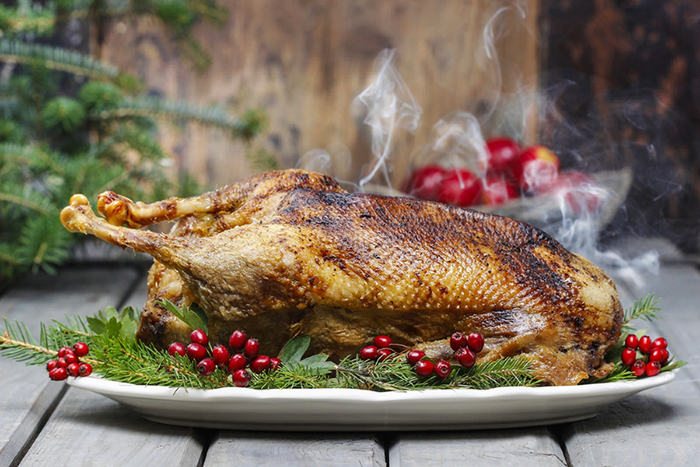 Roasted goose - medieval banquet dish