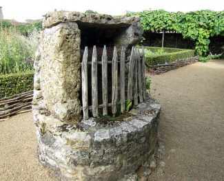Well in a medieval garden