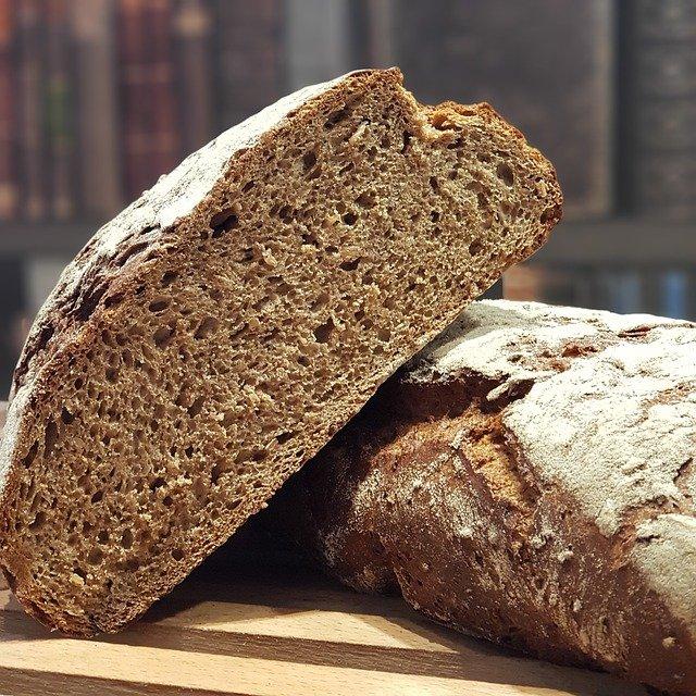 Darker bread made from rye